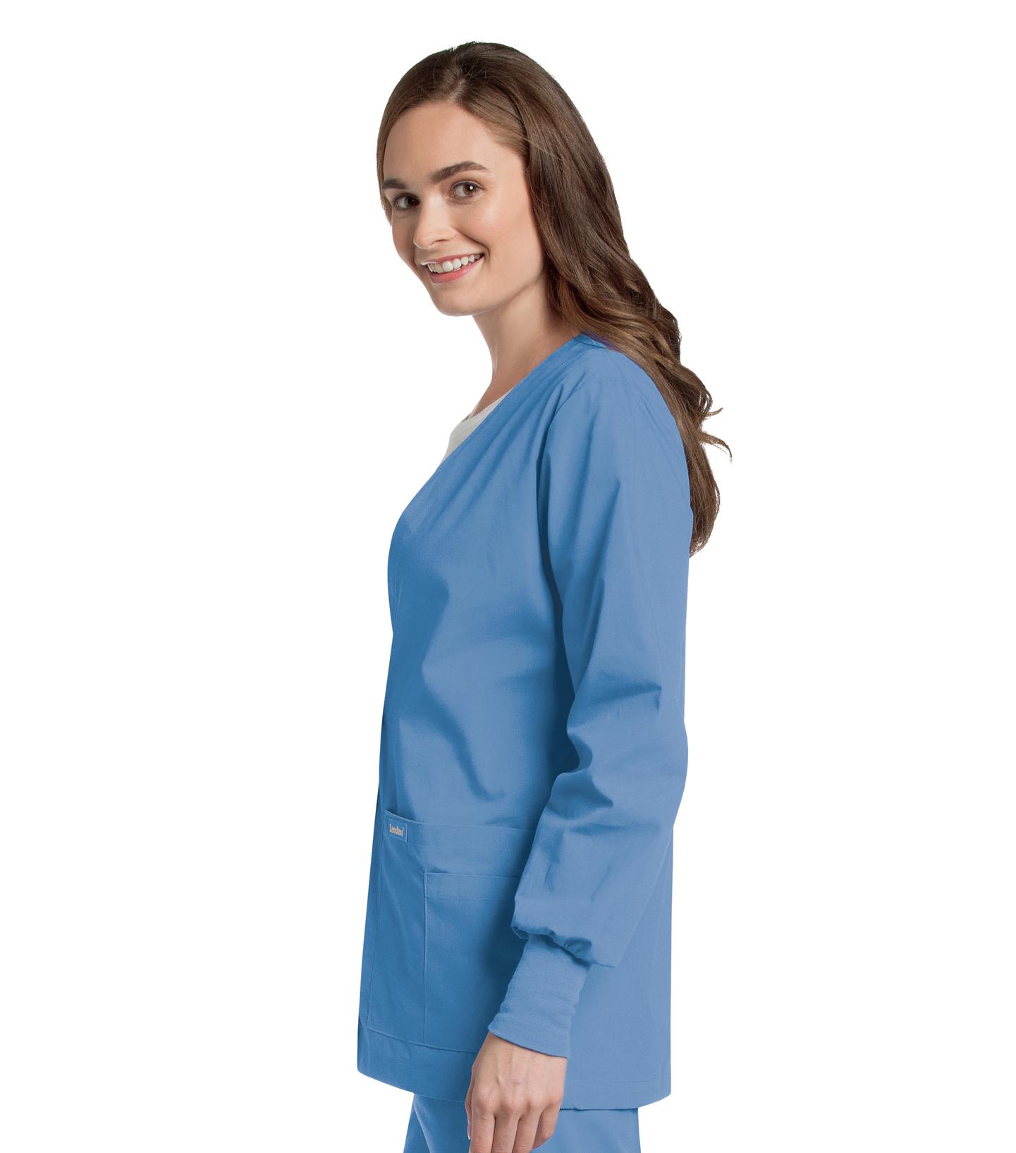 Womens Cardigan Warm-Up (7535) | Landau Scrubs
